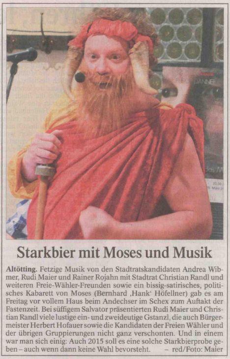 Moses Starkbierprobe