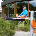 Übungsgeräte zum Training zwischendurch. Alfred Dierdorf nutzt sie zum Fit halten.